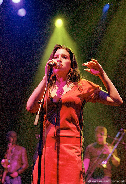 Amy Winehouse, performing live at Shepherds Bush Empire 3rd May 2004