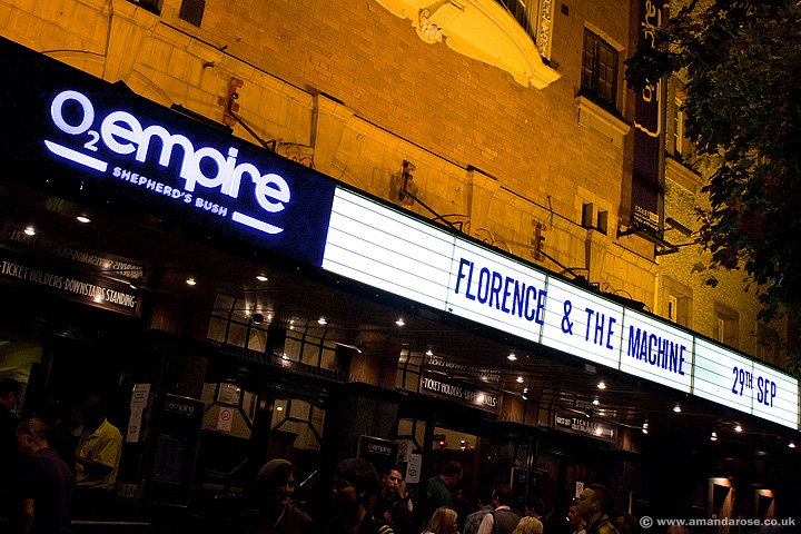 Florence and the Machine, live at Shepherds Bush Empire, 29th September 2009