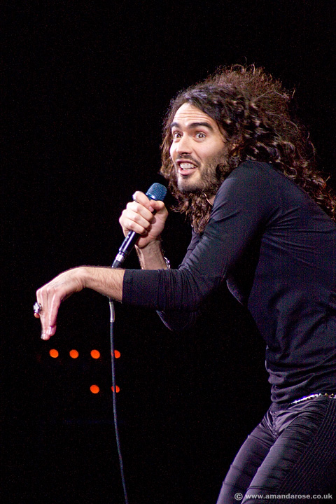 Russell Brand, performing live at Brixton Academy, 10th February 2009