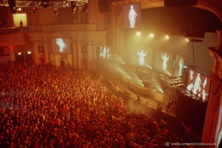Chemical Brothers, performing live at Brixton Academy, 2nd Dec 1999 (As seen in the Singles 93-03 sleeve artwork)