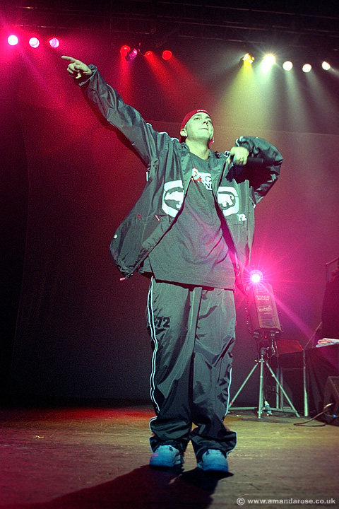 Eminem, performing live at Brixton Academy, 1st May 2000