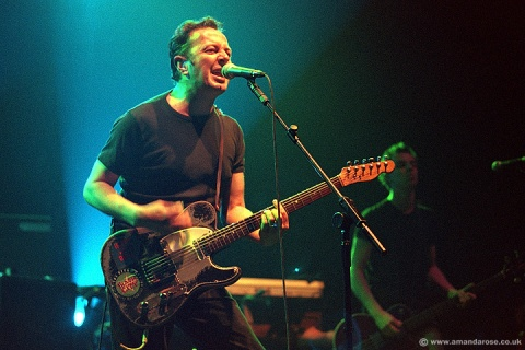Joe Strummer performing live at Brixton Academy, 6th May 2000