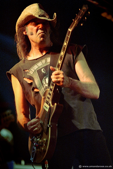 Neil Young, performing live at Brixton Academy, 21st May 2002