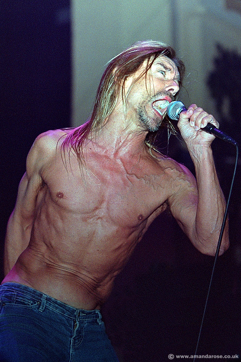 Iggy Pop, performing live at Brixton Academy, 13th July 2002