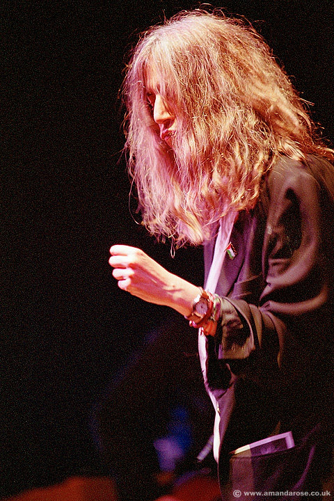 Patti Smith, performing live at Brixton Academy, 3rd July 2004