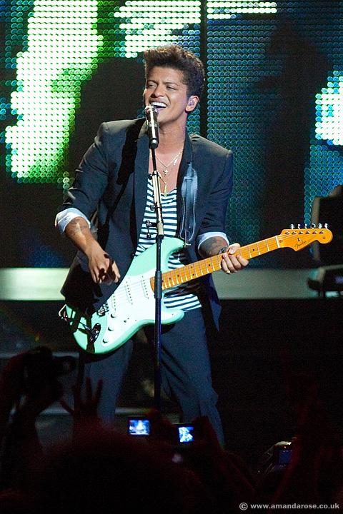 Bruno Mars, performing live at O2 Academy Brixton, 23rd October 2011