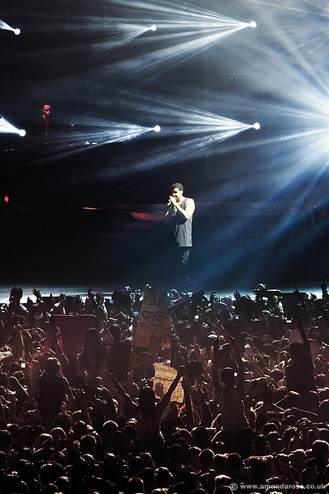 Drake, performing live at the O2 Arena, 27th March 2012
