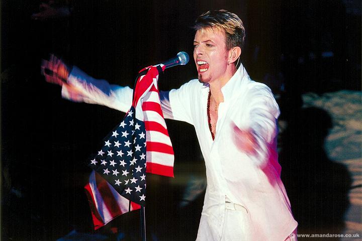 David Bowie, performing live, Shepherds Bush Empire, 11th August 1997