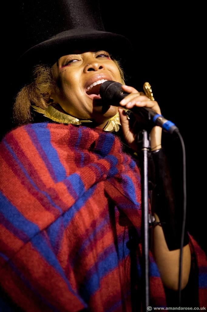 Erykah Badu, performing live at Brixton Academy, 24th July 2010
