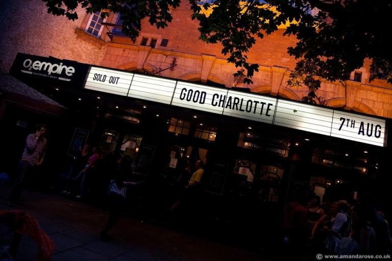 Good Charlotte, performing live at O2 Shepherds Bush Empire