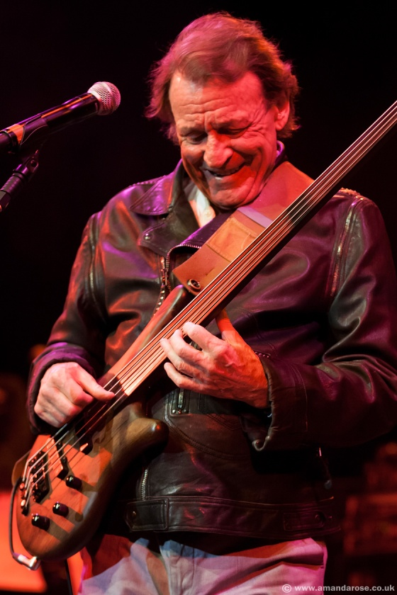 Jack Bruce performing live with the SAS Band at G Live, Guildford, 1st December 2012