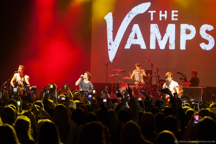 The Vamps, performing live at O2 Shepherds Bush Empire in aid of Teenage Cancer Trust, 7th April 2014