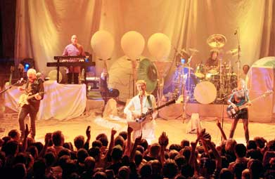 David Bowie, performing live at Shepherds Bush Empire, 11th August 1997