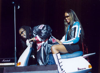 Wycleff Jean with Naomi Campbell